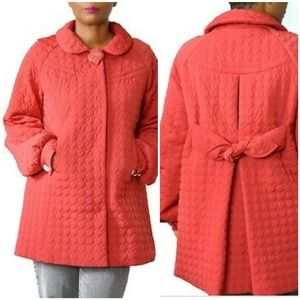 {S} Vintage Betsey Johnson Red Quilted Puffer Coat
